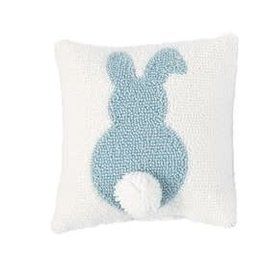 Small Hook Pillow Blue Bunny