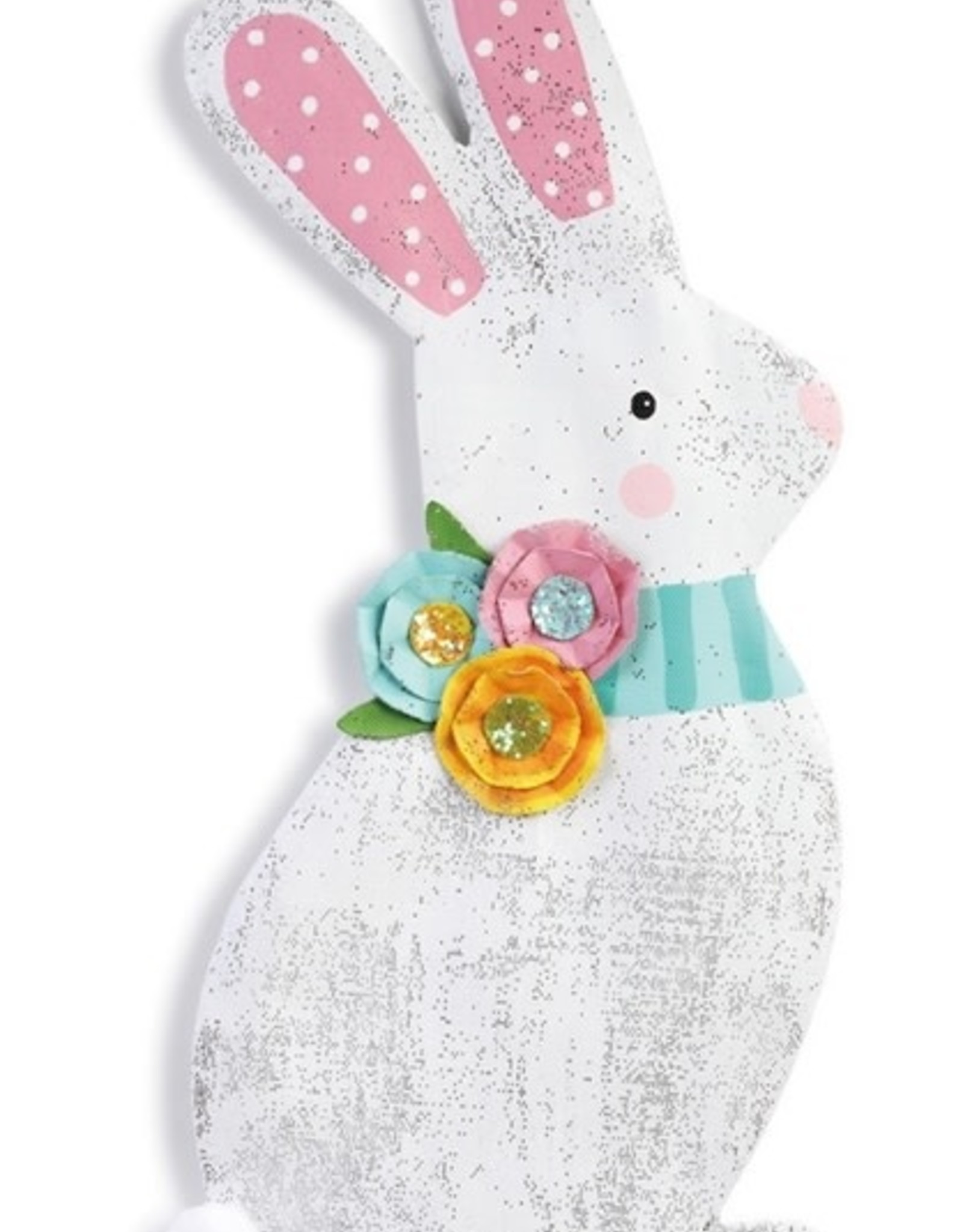 Door Screening Spring Bunny with Flowers
