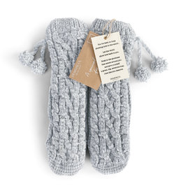Chenille Slipper Socks - Gray