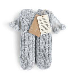 Demdaco Chenille Slipper Socks - Gray