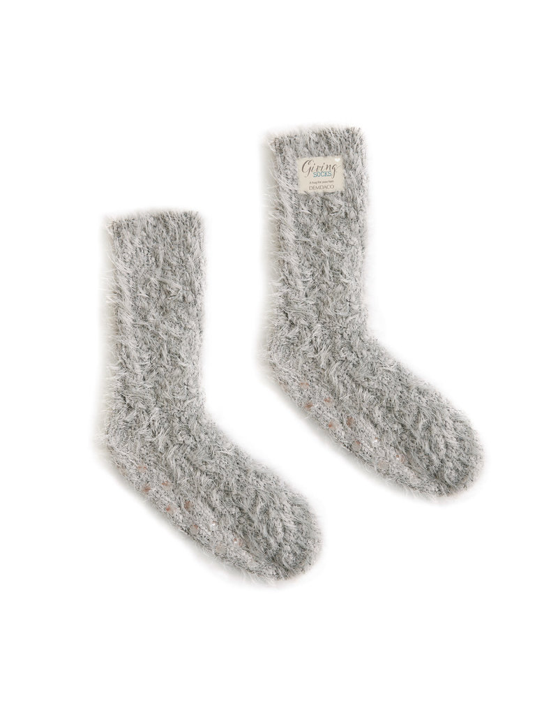Demdaco Giving Socks Taupe