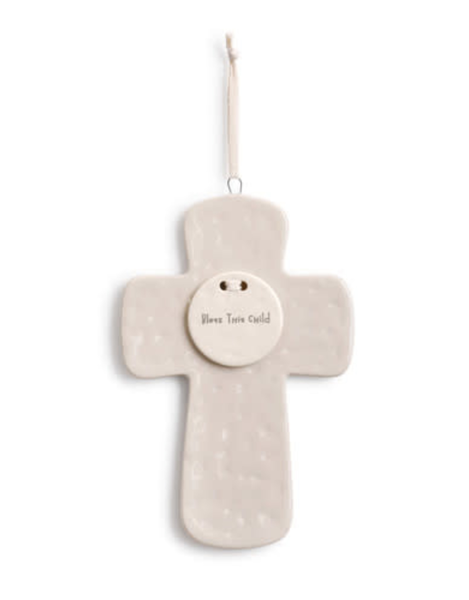Ceramic Cross Bless This Child