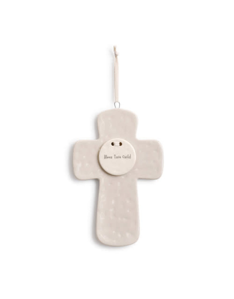 Demdaco Ceramic Cross Bless This Child