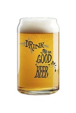 Midwest Supply Beer Can Pint Glass Drink Good Michigan