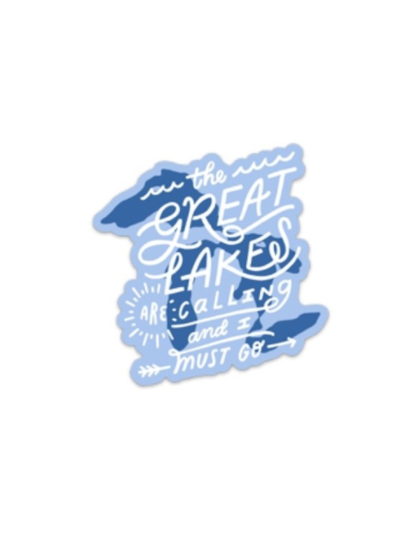 Midwest Supply Die Cut Deluxe Sticker Great Lakes are Calling