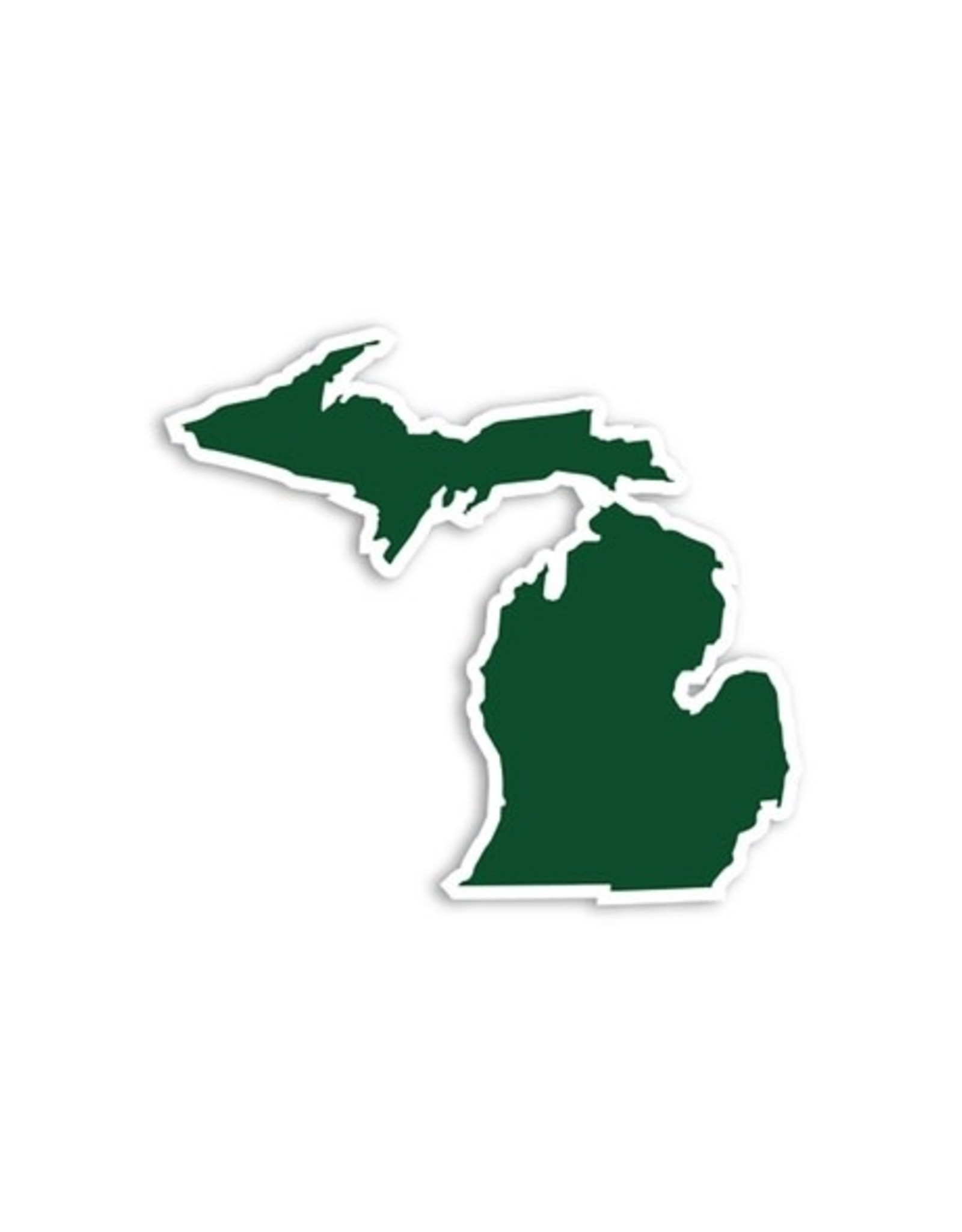 Midwest Supply Die Cut Sticker Michigan Green and White