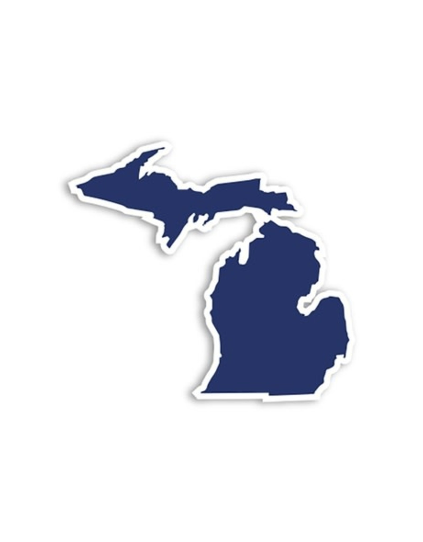 Midwest Supply Die Cut Sticker Michigan Navy and White