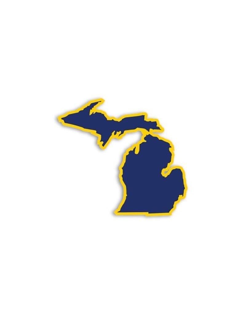 Die Cut Sticker Michigan Navy and Yellow