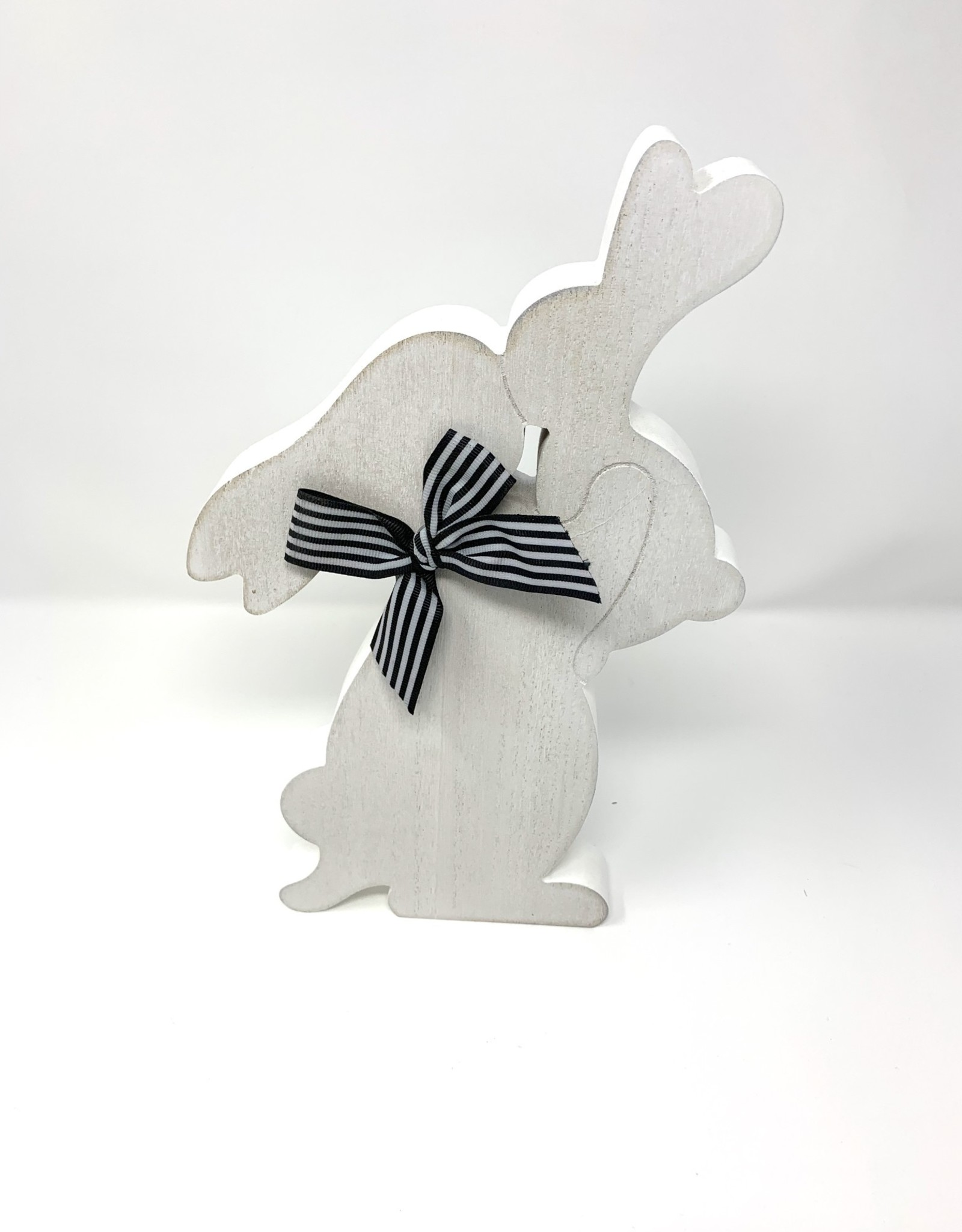 Adams and Company Bunny Cut Out Black/White Bow