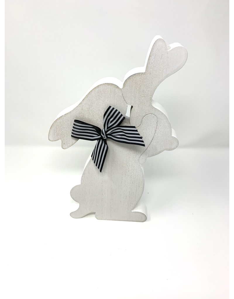 Bunny Cut Out Black/White Bow