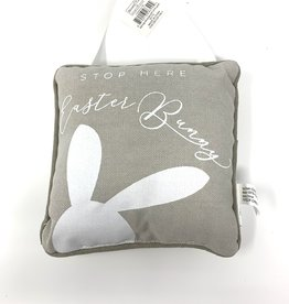Adams and Company Stop Here Easter Bunny Hanging Pillow