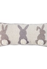 Hook Pillow White Triple Bunny