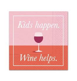 Cocktail Napkin Kids Happen Wine Helps