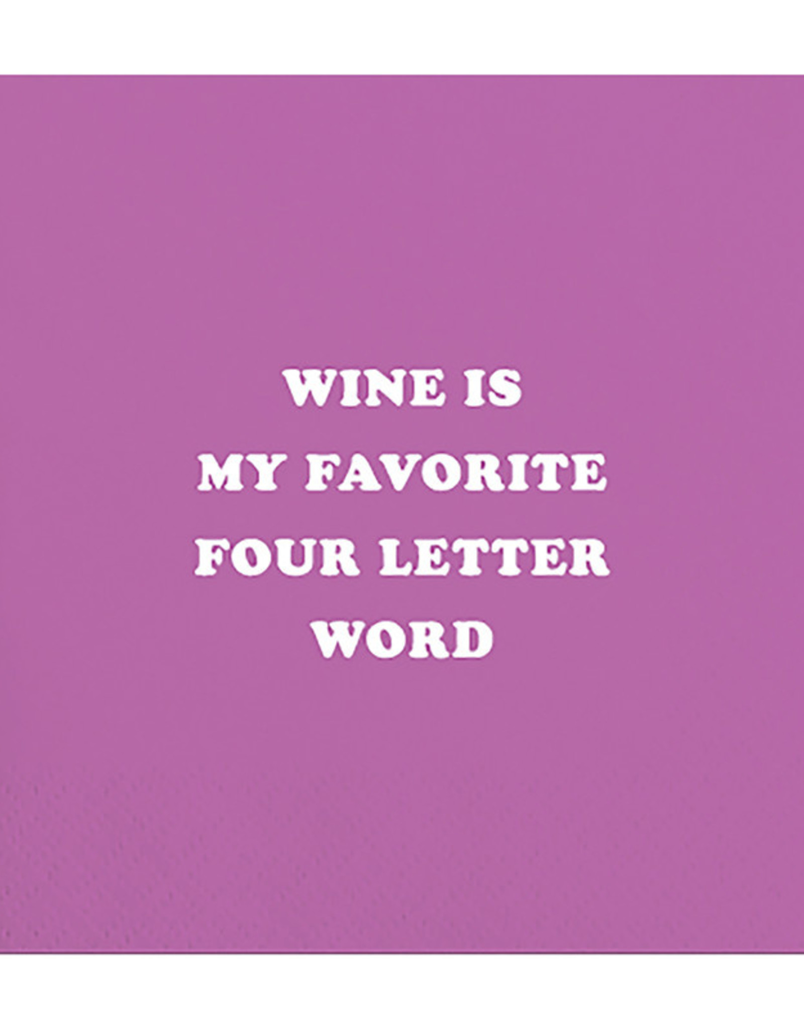 Slant Bev Napkin- Wine is Fav Word