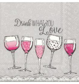 IHR Boston International Cocktail Napkin- Drink What You Love