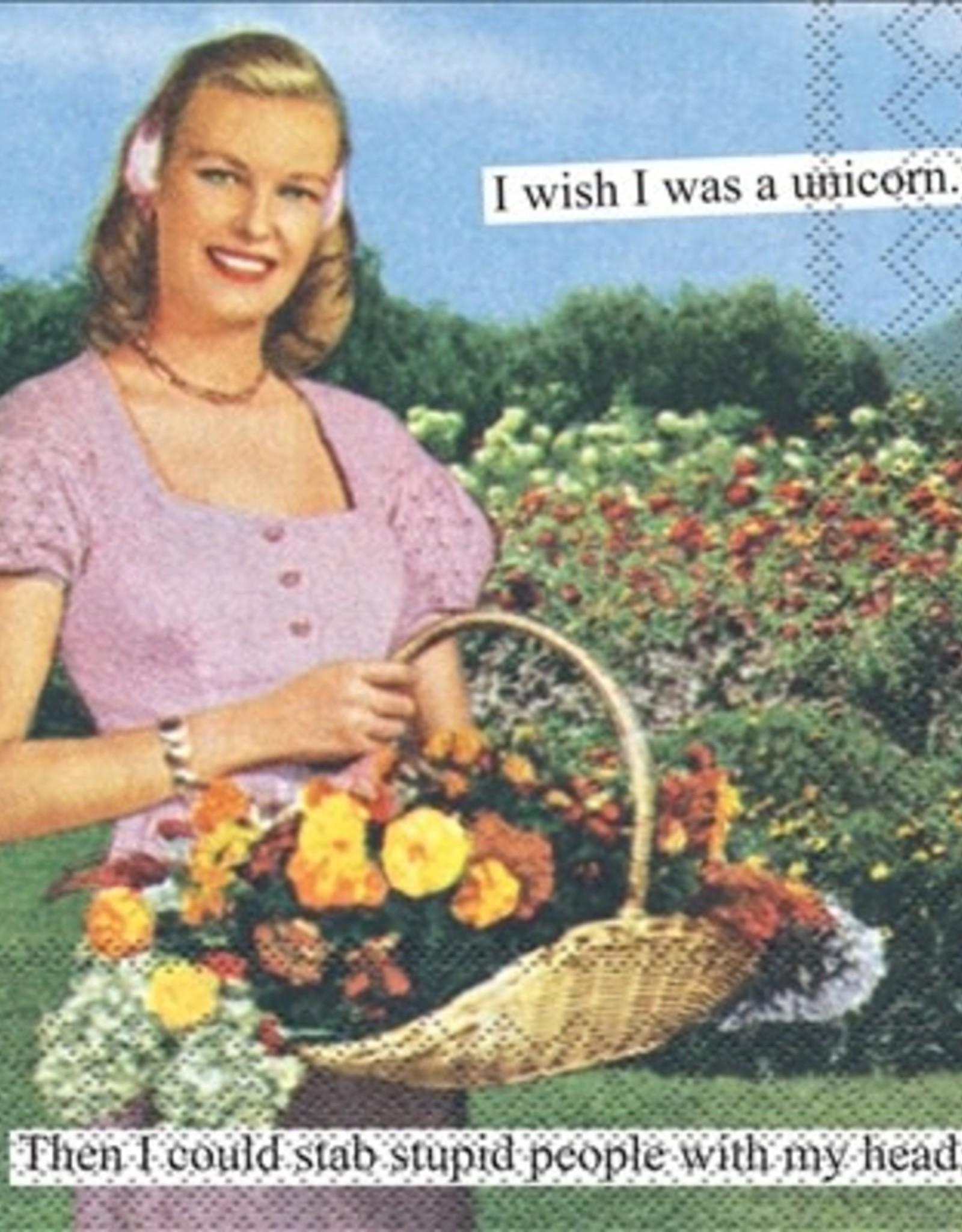 IHR Boston International Cocktail Napkin- Unicorn