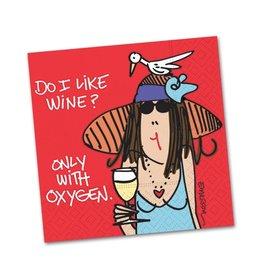 Cocktail Napkin Do I Like Wine