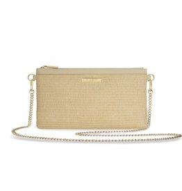 Katie Loxton Freya Straw Pouch Crossbody Bag Natural