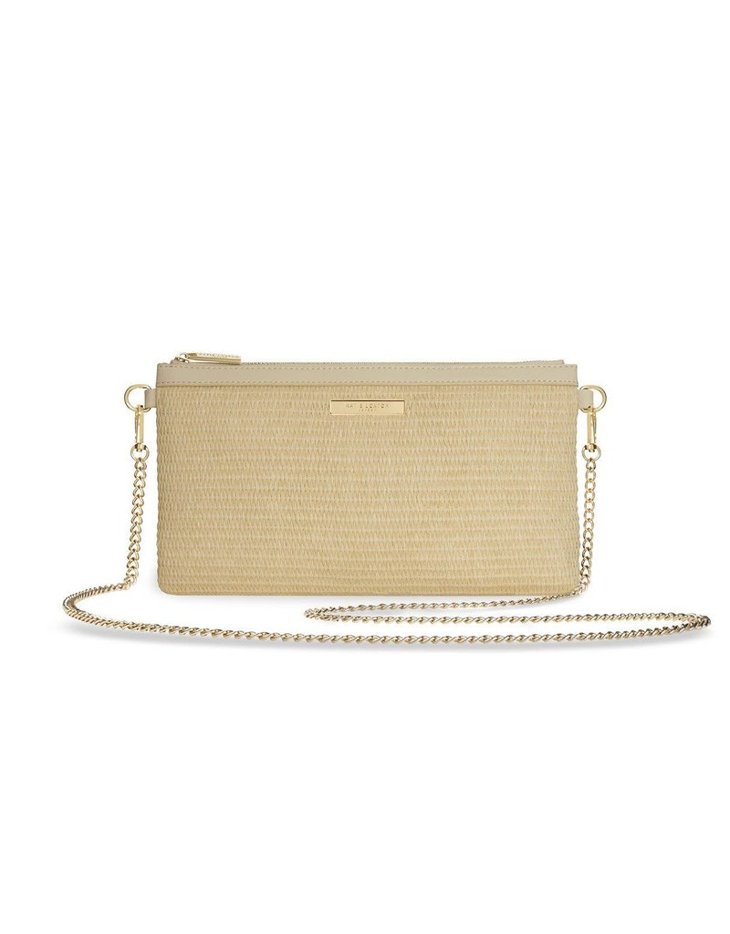 Katie Loxton Katie Loxton Freya Straw Pouch Crossbody Bag Natural