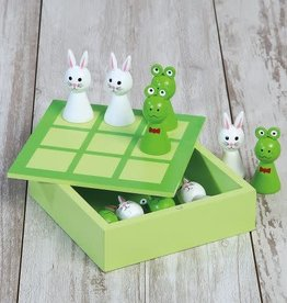 Two's Company Frog and Bunny Tic Tac Toe