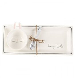 Mud Pie Bunny Cup with Tray Set