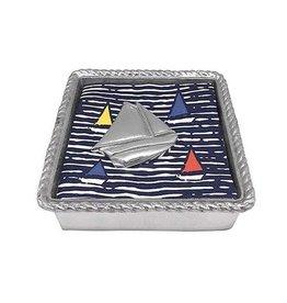 Mariposa Napkin Box - Sailboat Rope