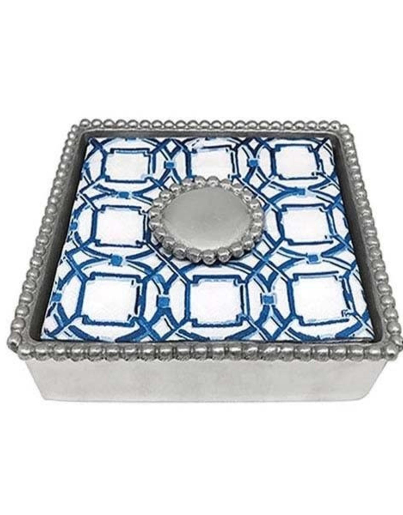 Napkin Box - Round Pearl Beaded
