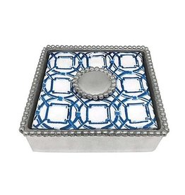 Napkin Box - Round Pearl Beaded