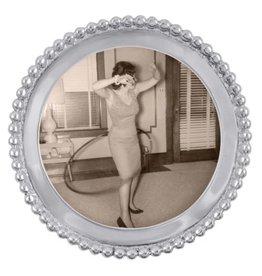 Mariposa Frame - Decorative Beaded Round
