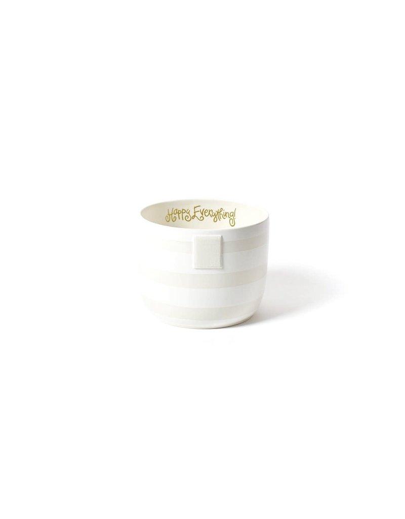 Happy Everything Mini Bowl White Stripe