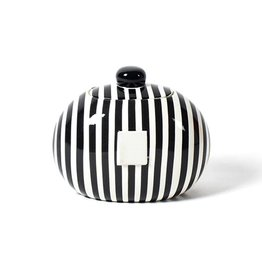 Coton Colors Mini Cookie Jar Black Stripe