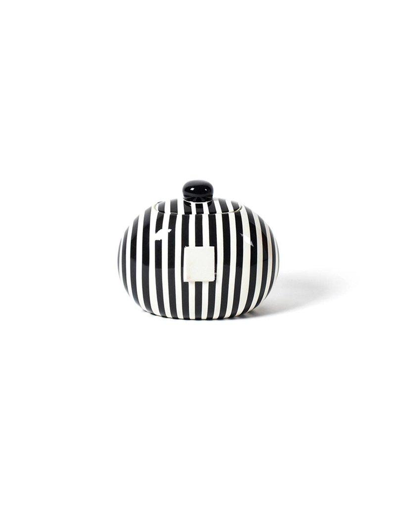 Happy Everything Mini Cookie Jar Black Stripe
