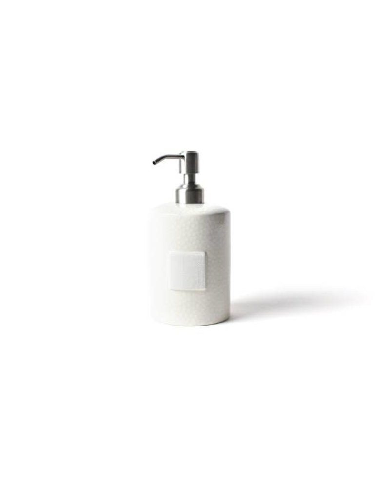 Happy Everything Mini Cylinder Soap Pump White