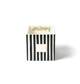 Coton Colors Happy Everything Mini Nesting Cube Medium Black Stripe