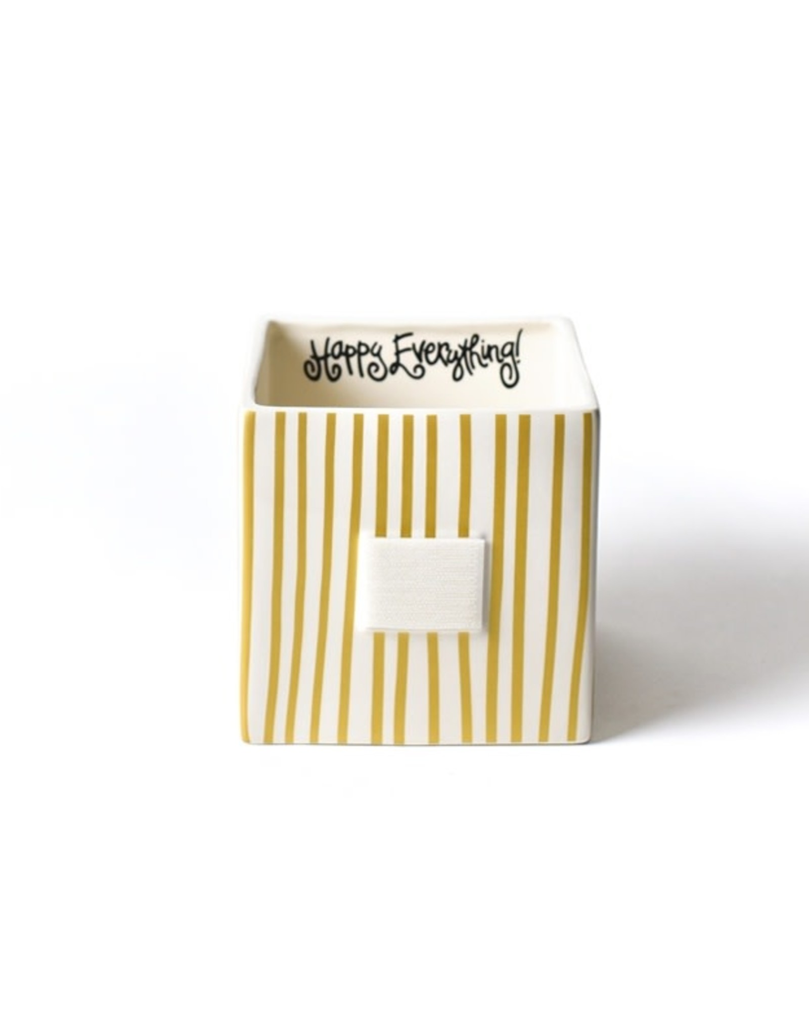 Coton Colors Happy Everything Mini Nesting Cube Medium Gold Stripe