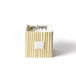 Coton Colors Happy Everything Mini Nesting Cube Medium Gold Stripe