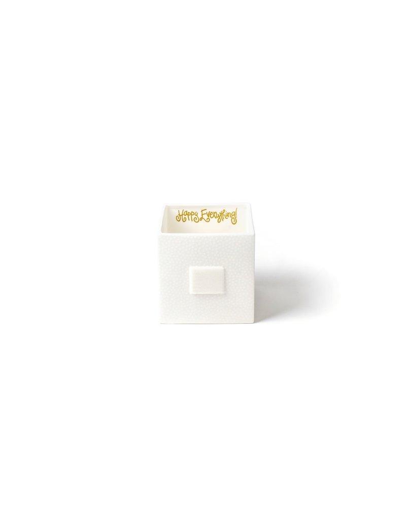 Happy Everything Mini Nesting Cube Medium White Sm Dot