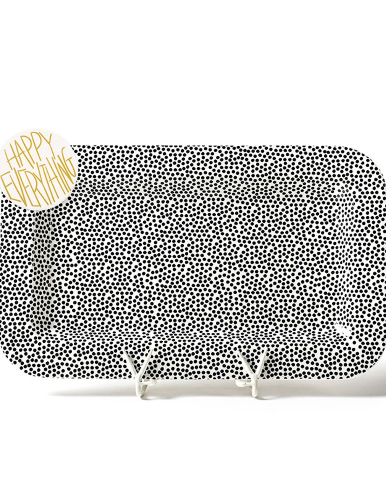 Coton Colors Happy Everything Mini Platter Black Small Dot with HE Attachment