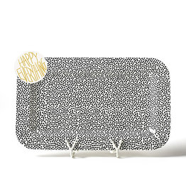 Coton Colors Mini Platter Black Small Dot with HE Attachment