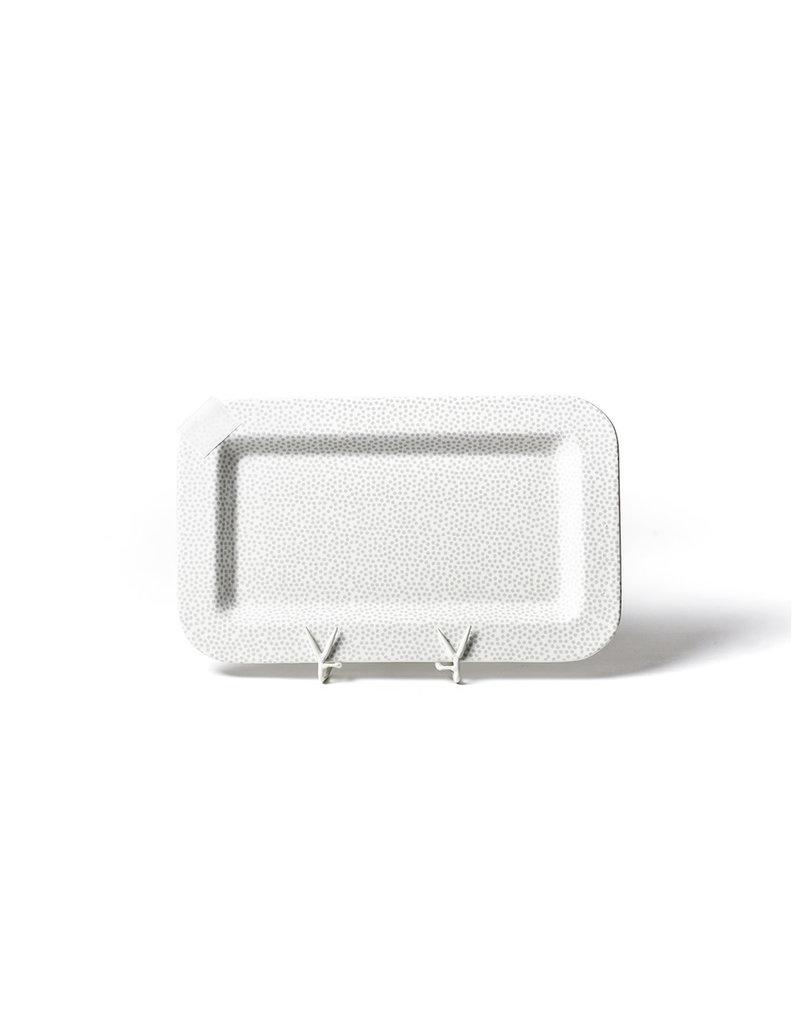 Happy Everything Mini Platter White Small Dot
