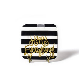 Coton Colors Mini Square Platter Black Stripe