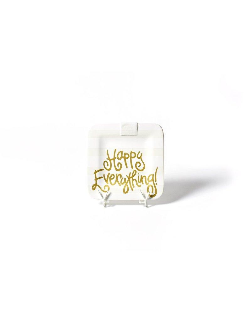 Happy Everything Mini Square Platter White Stripe