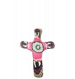 Pocket Cross Pink Flower
