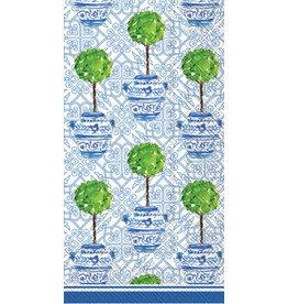 IHR Boston International Guest Towel- Blue Topiary