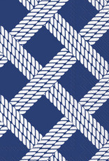 IHR Boston International Guest Towel- Sailors Rope Blue