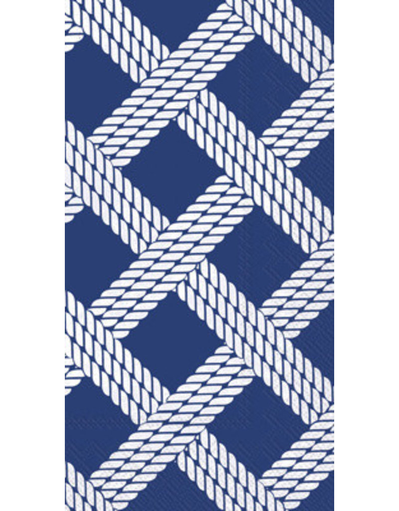 Guest Towel- Sailors Rope Blue