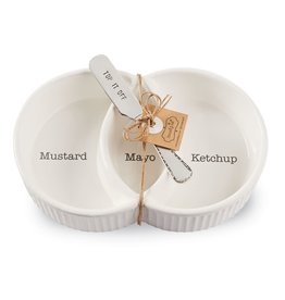 Mud Pie Circa Condiment Serving Set