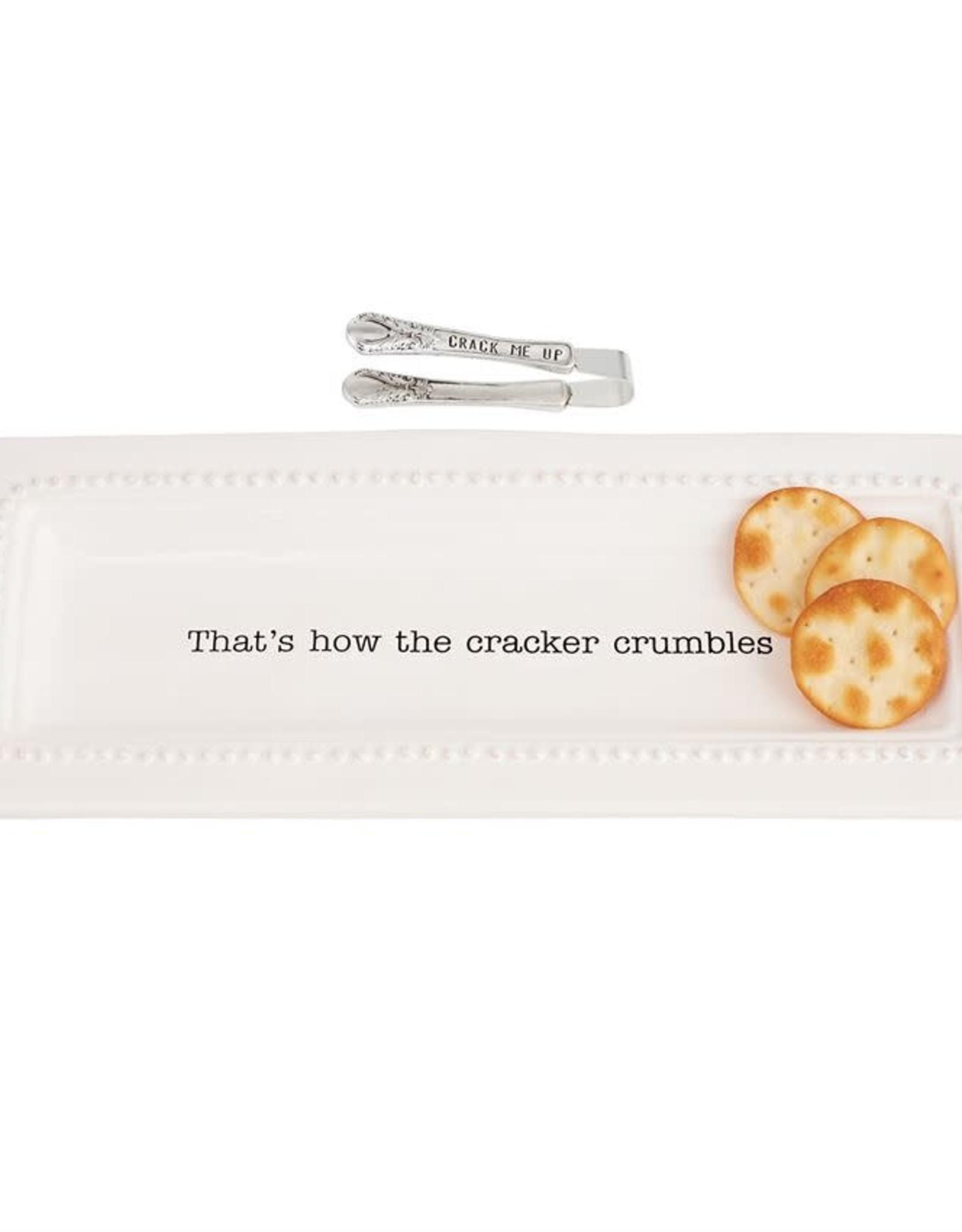 Circa Cracker Dish & Tong Set