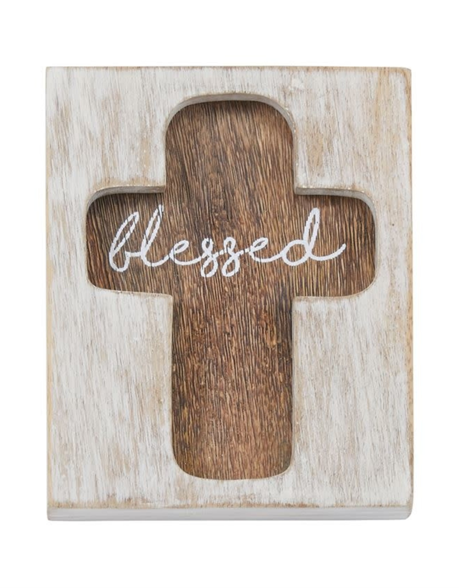 Cross Plaque Blessed