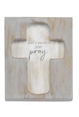 Cross Plaque Just Pray